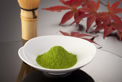 Matcha is a jewel-green, powdered, green tea that is rich in catechin polyphenols (compounds with high antioxidant activity). Frothed with .