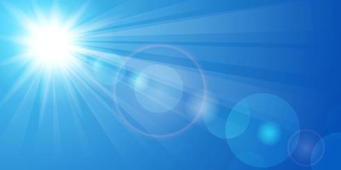 Vector illustration beautiful panorama of blue sky